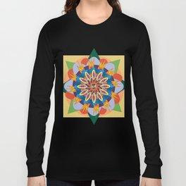 star blue mandala patterm Long Sleeve T-shirt