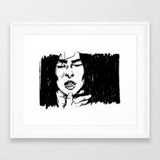 Gnashing Framed Art Print