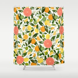 Punch Bowl Pattern Shower Curtain