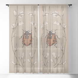 The Ladybug and Sweet Pea Sheer Curtain