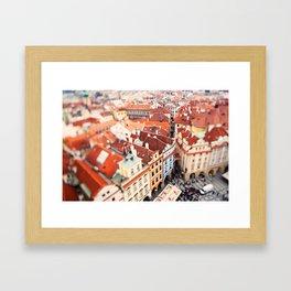 Red Roof Prague Framed Art Print