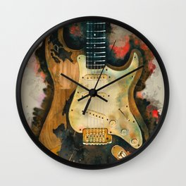 John Mayer's electric guitar Wall Clock