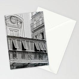 Roman city balcony Stationery Cards