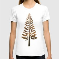 arya T-shirts featuring Feather Tree in warm colours by Hinal Arya
