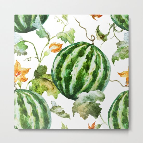 Melon Pattern 06 Metal Print