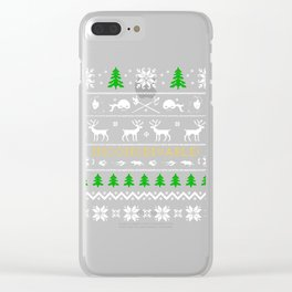 Ugly Christmas Trees Inconceivable Reindeer Clear iPhone Case