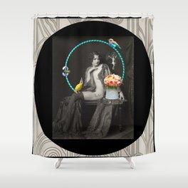 The Hoop Fairy & The Clown Canary Shower Curtain