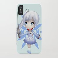 rwby iPhone & iPod Cases featuring Weiss by Louiology