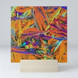 Abstract Rainbow Art - Jagged Shards / Stripes Mini Art Print