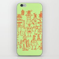 robots iPhone & iPod Skins featuring Robots! by Paul McCreery
