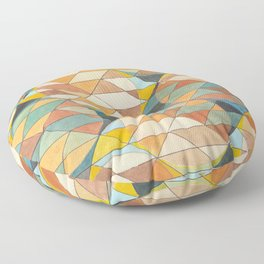 Triangles and Circles Pattern no.23 Floor Pillow