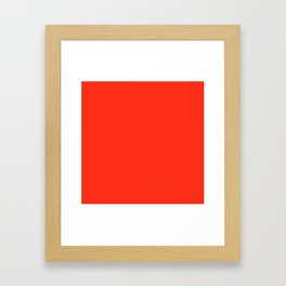 Red Grapefruit Framed Art Print