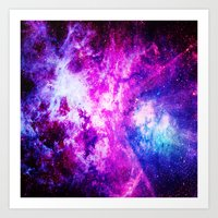 nebula Art Prints featuring nebuLA by 2sweet4words Designs
