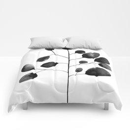 Watercolor Leaves Comforters