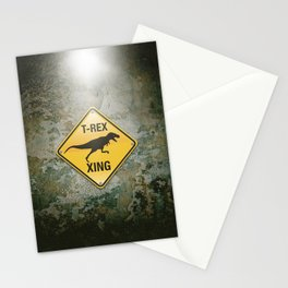 T-Rex Crossing Stationery Cards