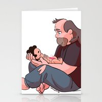 greg guillemin Stationery Cards featuring Steven Universe: Greg and Steven by Liv Moy