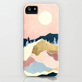 Coral Sunset iPhone Case