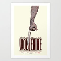 X-Men Origins: Wolverine Art Print