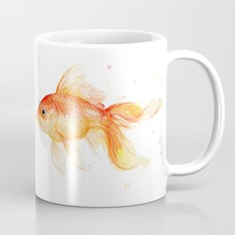 Goldfish Love Watercolor Fish Painting Coffee Mug