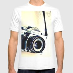 Classic Camera (Hipster) Mens Fitted Tee MEDIUM White