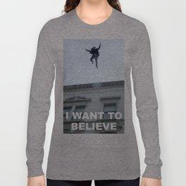 I Want to Believe in Sherlock Holmes Long Sleeve T-shirt
