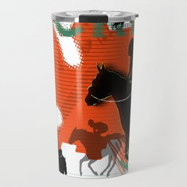 Horse Racing Travel Mug