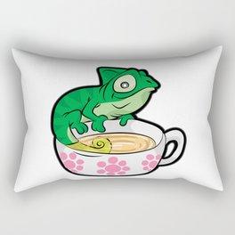 CHAMOMILEON TEA chameleon cup Gecko Cartoon Comic Rectangular Pillow