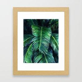 Watercolor tropical print Framed Art Print