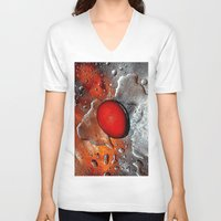 egg V-neck T-shirts featuring egg by  Agostino Lo Coco