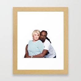 Martha & Snoop Framed Art Print