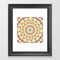 Summer Mandala 9 Framed Art Print