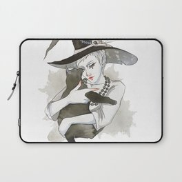 the witch with the cat Laptop Sleeve