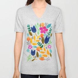 Flower Mayhem Unisex V-Neck