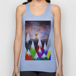 Abstract Sky Unisex Tank Top