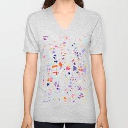 Funky Colorful Pattern Unisex V-Neck