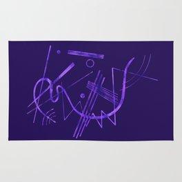 Kandinsky - Purple Abstract Art Rug
