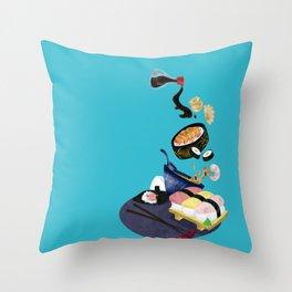 Food of Japan Throw Pillow