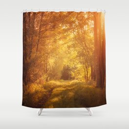 magical enchanted forest Shower Curtain