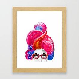 Alice, Crazy Hair! Framed Art Print