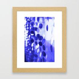 GLAM CIRCLES #Blue #2 Framed Art Print