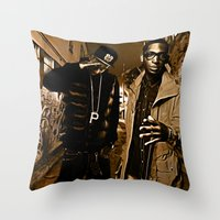 wiz khalifa Throw Pillows featuring Wiz & Tempah by D77 The DigArtisT