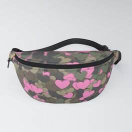 Hearts camouflage Fanny Pack
