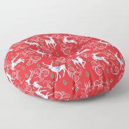 Christmas Reindeer II Floor Pillow