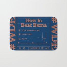 How to beat Bama Bath Mat
