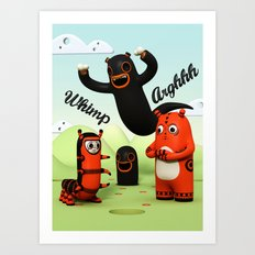 Sniff and Boo Art Print
