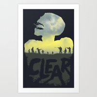 clear Art Prints featuring CLEAR by Kidney Theft