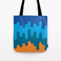british Tote Bags featuring British Summer by Quick Brown Fox