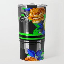 Chintz Rose Orange & Green Travel Mug