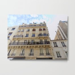 Paris France Downtown Metal Print