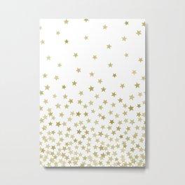 STARS GOLD Metal Print